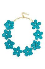 Baublebar Zoe Leather Flower Collar Necklace Green