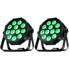 Pair American DJ Adj Mega 64 Profile Plus Low Profile LED Wash Lights 1226100311