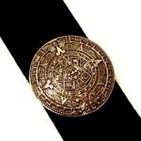 VTG Sterling Silver 925 Taxco Mexico Aztec Mayan Calendar Pendant Brooch TM-184