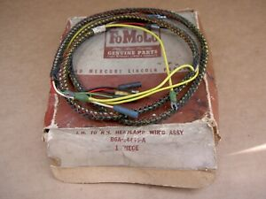 56 Ford headlamp wire harness, B6A-14445-A, NOS