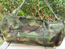 """CAMOUFLAGE DUFFEL BAG Camo Hunting Camping Overnight Gym Sport Travel 16x9"""" NEW"""