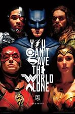 JUSTICE LEAGUE MOVIE - SAVE THE WORLD POSTER - 22x34 - CHARACTERS 16243