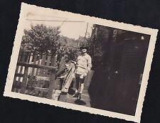 Antique Photograph Men on Porch Man With No Pants Holding Pants Cigarette Gay