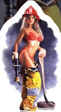 AUTOCOLLANT SEXY PIN UP POMPIER / FIREFIGHTER - STICKER VINYL DECO USA