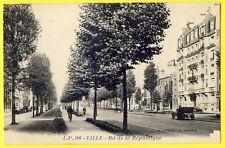 cpa 59 - LILLE (Nord) BOULEVARD de la RÉPUBLIQUE Automobiles Edit. Lucien Pollet