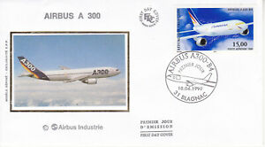 Enveloppe 1er jour FDC Soie 1999 - Poste Aérienne 15F Airbus A300