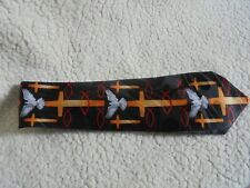 Steven Harris Hand Made Tie With Cross And Dove