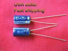 4 pc   -   82uf 25v  105c  Panasonic electrolytic capacitors FREE SHIPPING