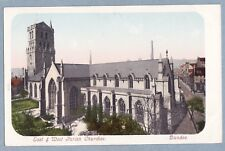 VINTAGE POSTCARD -  EAST AND WEST PARISH CHURCHES DUNDEE  - Unposted