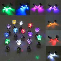 10stk.LED Leucht Ohrring Ohrstecker Leuchtende Ohrringe Earrings Disko Party Neu
