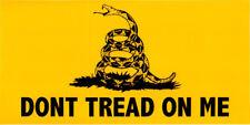DONT TREAD ON ME GADSDEN FLAG BUMPER STICKER VINYL DECAL 2nd amendment pro gun
