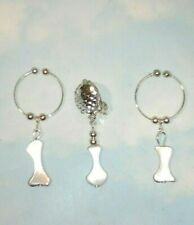 THE   BLING  NON PIERCING NIPPLE RINGS & INTIMATE BODY HOOP CLIP ON SET