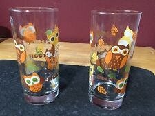 Set Of Tumbler Glasses Owls Hoot