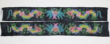 Old tribal exotic chinese Dong people's hand embroidery strips (pair)