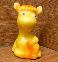 Original Vintage Soviet Russian Rubber Toy Doll LITTLE COW. Made in USSR.