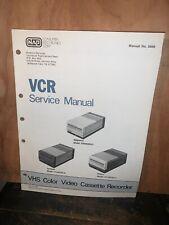 Magnavox, Sylvania, Philco VCR Service manual Schematics VR8463SL01