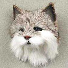 *BOB CAT  HEAD FUR MAGNET.. MINIATURE THROPHY:-)
