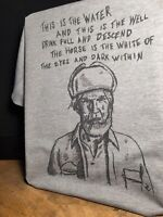 """Twin Peaks """"This Is The Water, This Is The Well"""" Sketch T-Shirt - David Lynch"""