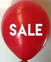 10 SALE Balloons - Latex Helium Quality Red Balloon - POS Balloons Free Postage