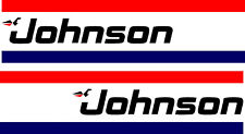 Johnson Outboard | Cowl | Sticker Decal Graphic | 1 Pair | Free Post | BB221