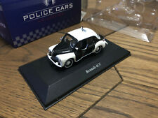 Atlas Police Cars Collections Renault 4CV White/Black 1/43 Mint Scale Model