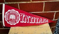 INDIANA UNIVERSITY VINTAGE FELT PENNANT BANNER HOOSIERS FREE DOMESTIC SHIPPING