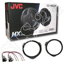 JVC CS-HX639 3-Wege Lautsprecher Set Opel Astra F+G Lautsprecherringe + Adapter