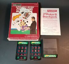Sears Tele-Games Poker And BlackJack complete In Box Tested Works