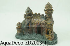 "Beautiful Small 4.5"" Resin Castle Decoration/Ornament For Aquarium SHIP FROM USA"