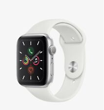Apple Watch Series 5 40mm Silver Case White Band - (MWV62LL/A)