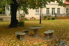 Gartenmöbel Stein Tisch Tische aus Gestein  4502 Rund Stadt Park  FineCrete® Neu