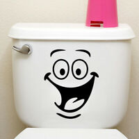 Funny Animation Big Eyes Toilet Wall Sticker Decal Home Room Art Mural DIY Decor