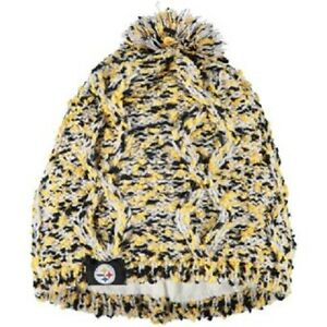 Pittsburgh Steelers Chunky Knit Light Up Logo Beanie Winter Hat Toque Pom Womens