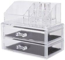 Compactor caja organizadora - 2 cajones joyero y Cosméticos transparente