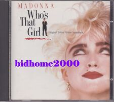 Madonna - Who's That Girl OST Japan CD (32XD-787-1st Press) 日本版