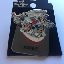 WDW - Monorail ROBBIE Name Pin FAB 4 Mickey Minnie Goofy Donald Disney Pin 15004