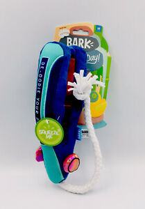 Bark Lo-Frizz Faux Fur Straightener Squeaky Dog Toy Sit Stay Spa Day 20-50 lbs