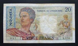 Nouvelle Calédonie - Nouméa - 20 Francs - 1963
