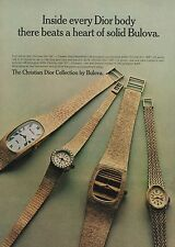1972 Christian Dior Collection by Bulova Watches Original Vintage Print Watch Ad