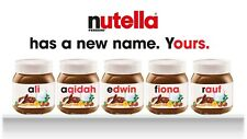 Your Personalised Nutella Label for jar ANY NAME plus FREE poster to print!
