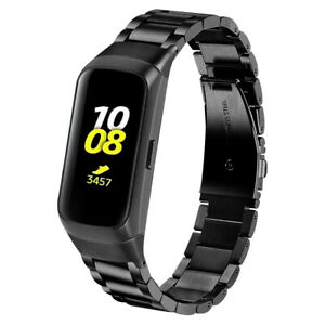 StrapsCo Stainless Steel Metal Watch Band Strap for Samsung Galaxy Fit