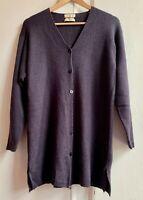 Super *SPIRIT OF THE ANDES* Purple 100% Alpaca Long Cardigan Jacket Plus