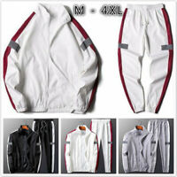 2Pcs/Set Men Jacket+Pants Tracksuit Sport Jogging Athletic Sportswear Casual