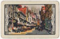 Playing Cards Single Card Old Vintage LNER Railway Train Advertising Art YORK 2