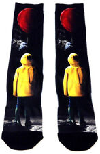 STEPHEN KING'S IT MOVIE PENNYWISE RED BALLOON SUBLIMATED PREMIUM MENS CREW SOCKS