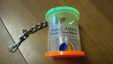 """New listing Used acrylic """"snack attack"""" parrot playtime peanut dispenser on 10"""" chain"""