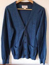 VTG PENGUIN By MUNSINGWEAR Mens 100% Pima Cotton Cardigan Blue Speckled Sz M EUC