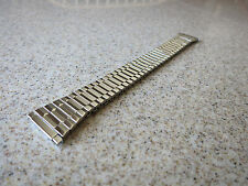 Speidel Hirsch byou Polished SS 15-19mm Straight Self Adjust End Watch Band W50