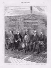 1873 - Antique Print AFRICA Slavery Question HMS Enchantress Sultan Frere (145)