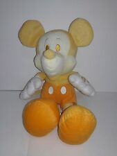 VINTAGE YELLOW MICKEY MOUSE Disney SEGA Yellow Plush Stuffed Animal